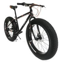 """X-TREME BRONZE on edullinen & laadukas Fatbike joka maastoon. Neljän vuodenajan läskipyörällä voit pyöräillä säällä kuin säällä. Paksut 4"""" renkaat."""