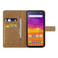 Blackview BV9900 ja BV9900 Pro -IP68-älypuhelimille sopiva flip-cover suojakotelo, joka suojaa puhelinta pintanaarmuilta ja mukana kulkee myös maksukortit.