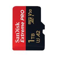 SanDisk 1 TB Extreme Pro microSDXC-muistikortti omaa massiivisen kapasiteetin sekä huikean suorituskyvyn. Huikean nopea 170MB/s luku- ja 90 MB/s kirjoitusnopeus.