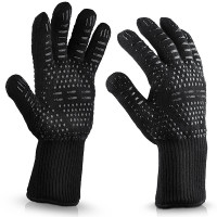 High temperature barbecue fireproof gloves