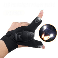 Denna 2-fingerhandske med LED-belysning gör att du slipper hålla i ficklampa eller annan belysning exempelvis under elektronikreparationer, fiske eller liknande.