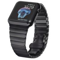 Tämä metallinen Apple Watch -ranneke tuo aivan uudenlaista loistoa älykelloosi! Metallinen ranneke on kestävä ja tyylikäs valinta kuin arkeen kuin juhlaankin.
