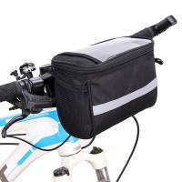 Rymlig och smidig cykelväska för din cykel. Denna väska monteras fram på cykelstyret och rymmer med lätthet din telefon, tillbehör, plånbok och exempelvis lite snacks.