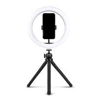 Ved hjælp af ringlyset kan du tage fantastiske professionelle billeder og video. Takket være lyset får du fremragende belysning til at tage eller tage billeder, du kan vælge mellem tre forskellige lystilstande: koldt lys, varmt lys og blødt lys.