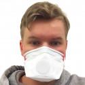 Handan FFP3-hengityssuojain venttiilillä 1kpl-50kpl