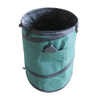 Kevyt ja liikuteltava 100 litran pop-up saavi / roskakori, joka käy niin haravointijätteen keräämiseen kuin juhliin juoma-altaaksi!