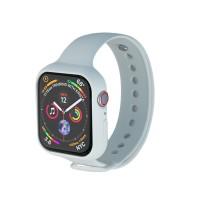 Silikoninen Apple Watch rannekkeen upotettava malli suojaa kätevästi myös kellon runkoa. Laadukas ja pehmeä silikoni tuntuu mukavalta iholla.