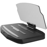 Puhelimen HUD -näyttö autoon. Heijasta ajonopeus, navigointiohjeet ja paljon muuta suoraan kuljettajan näköalueelle. Varustettu myös langattomalla laturilla.