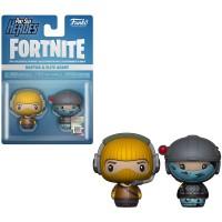 Funko Pint Size Heroes figuureihin kuuluvat Fortnite Raptor ja Elite Agent hahmot. Nämä Fortnite figuurit ovat aitoja ja lisensoituja fanituotteita.