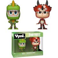 Aidot ja lisensoidut Funko Vynl Fortnire Rex & Tricera Ops hahmot. Figuureilla on korkeutta noin 9,5cm ja ne ovat mahtava lisä jokaisen Fortnite fanin hyllyyn!
