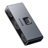 Baseus HDMI-jakaja on kätevä adapteri, kun haluat yhdistää 4k-kuvan yhdestä laitteesta kahteen näyttöön tai yhden näytön kahteen eri laitteeseen.
