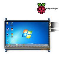 """7"""" 1024x600 Touchscreen till Raspberry Pi -datorer"""