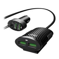 4st USB laddportar i din bil är ett smart val om du kör längre sträckor med passagerare på bakbänken också! Med en utgångsström på 5.1A kan alla ladda sin mobil samtidigt. En förlängningskabel medföljer också i paketet.