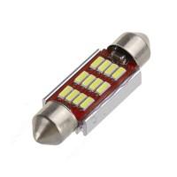 Tämä 4 W LED sukkulapolttimo toimii myös uudemmissa autoissa, eikä aiheuta aiheettomia virheilmoituksia auton tietokonejärjestelmässä. Kymmenen lediä antavat jopa 220 lumenin valotehon. Toimii sekä 12 että 24 voltin sähköjärjestelmissä.