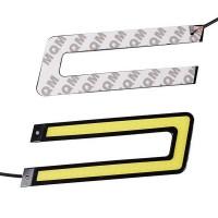 Päivitä autosi ilmettä halpaan hintaan; U-muotoiset, 10 W LED tuning-valot on helppo asentaa esimerkiksi sumuvalojen paikalle etupuskuriin. Helppo kiinnitys.