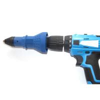 Ulkoista popniittipihtien voimanlähde ja hanki poraan kiinitettävä vetoniittiadapteri. Soveltuu 2,4 / 3,2 / 4,0 / 4,8 mm niiteille. Sopii kaikkiin porakoneisiin.