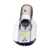 Moottoripyörän LED-polttimo H6-kantaan. Tuottaa kirkkaan valkoisen valon ja soveltuu hyvin käytettäväksi myös mopoissa, sekä mönkijöissä. Passiivinen jäähdytys.