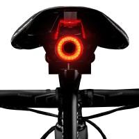 Rockbros Q5 är en smart baklampa för cykel som automatiskt slås på eller av beroende på omgivande ljus eller användning.