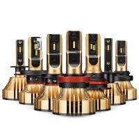Mycket ljusstarka H13 LED-lampor med en ljusstyrka på upp till 12000 lumen och en livslängd på upp till 100000 timmar.