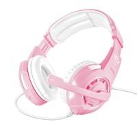 Trust GXT 310P gamingheadset har en läcker rosa färg och kraftfull ljudåtergivning. Passar både för gaming och för att lyssna på musik.