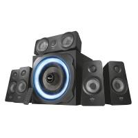 Trust GXT 658 Tytan 5.1 Surround-kaiutinsetti on varustettu huikealla 5.1-kanavaisella äänellä. Upean soundin lisäksi subwooferistä löytyy hienot valoefektit.