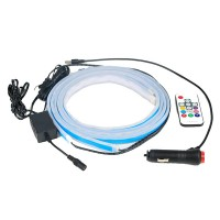 RGB-belysning til bildøre er et godt supplement til din bil. Takket være dets justerbare Bluetooth-lys kan du justere belysningen via en mobilapp.