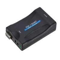 Kätevällä VGA-SCART –adapterilla esimerkiksi tietokoneen yhdistäminen SCART-liittimellä varustettuun näyttöön onnistuu helposti. Edullinen VGA ja SCART yhdistäjä!