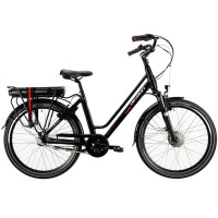 Devron City sähköpyörä. Tämä sähköavusteinen polkupyörä on suunniteltu erityisesti kaupunkiin ja sillä sujuvat matkat leppoisasti myös ylämäissä.