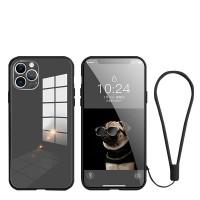 iPhone 11 Pro Max silikonikuori lasipinnalla antaa iPhone puhelimellesi erinomaisen suojan naarmuja vastaan, mutta kuitenkaan sen ulkonäöstä tinkimättä.