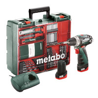 Metabo PowerMaxx är en kompakt och effektiv batteridriven borrskruvdragare med justerbart vridmoment. Innehåller ett extrabatteri, laddare och ett omfattande tillbehörspaket.
