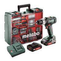 Högkvalitativa Metabo BS 18L är en robust batteridriven borrmaskin och skruvdragare med justerbart vridmoment. Inkluderar extrabatteri, laddare och tillbehörspaket.