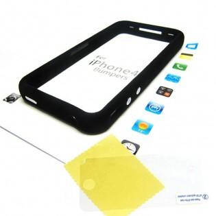 iPhone 4/4S reunakehys - Musta