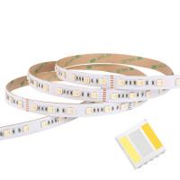 Bright RGB CCT WW / CW 60 LED / m 2m LED-strip giver dig RGB-belysning og varmt eller koldt lys i en og samme LED-strip.