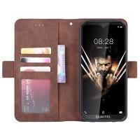 Flip-cover suojakuori Oukitel WP6 -älypuhelimeen, josta löytyy myös muutama tasku korteille ja vaikka setelirahalle. Kortit saa myös käännettyä esiin avaamatta itse puhelinta esiin!