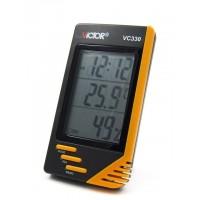 En praktisk mätare som visar både temperatur som luftfuktighet.