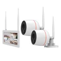 """Juanvision WiFi valvontakamerajärjestelmä 7"""" kosketusnäytöllä. Näyttö toimii verkkotallentimena. Kodin monipuolisin turvakamerajärjestelmä. Plug&play."""