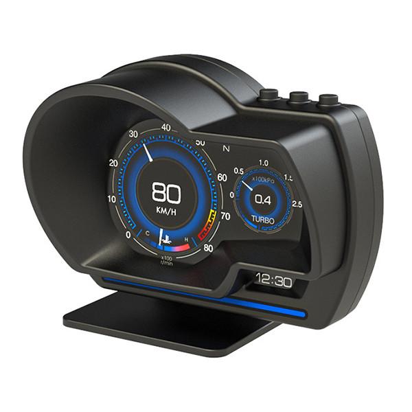Actisafety auton HUD-näyttö GPS-paikannuksella