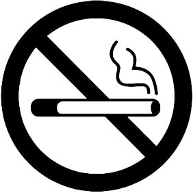 Ei tupakointia sisustustarra