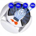 Campinglampe med solcelle og USB-opladning