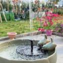 Flydende springvandspumpe med solpanel