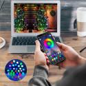 Vattentålig ljusslinga app-styrd