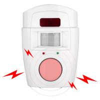 Edullinen varashälytin liiketunnistuksella. Laitteen sireenin äänenvoimakkuus on 105 dB, joten talon väki herää varmasti, varkaan laukaistessa hälytyksen.