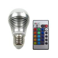 Tyylittele kotisi värimaailmaa RGB LED-lampulla. Jopa 50 000 h käyttöiän omaavassa polttimossa on 16 eri värivaihtoehtoa. Mukana tulee kaukosäädin.