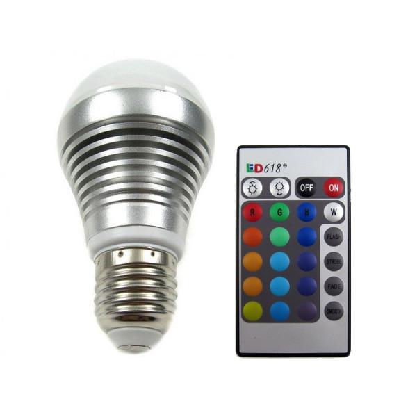 RGB LED-lamppu 16 väriä 5W