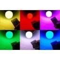 RGB LED-lampa E27/E14 med fjärrkontroll