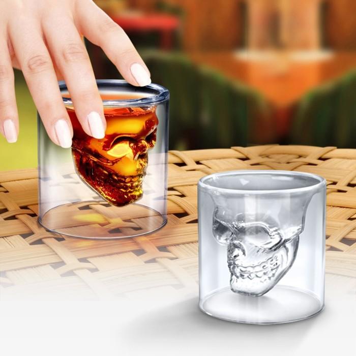 Dödskalle Shotglas, 2st