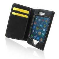 A stylish artificial leather case for your iPhone 4/4S.