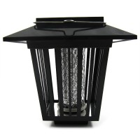Convenient solar insect trap for garden. You can charge the device during light time and set it on when it becomes dark.