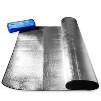 Alumiinifolioinen alusmatto on hyödyllinen lisävaruste retkeilijälle ja telttailijalle!