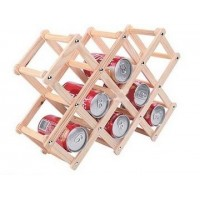 Wood folding wine rack